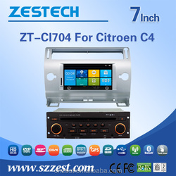double din car dvd player for CITOREN C4 car dvd player with ce fcc emc lvd