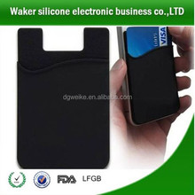 Personalized mobile phone accessory 3M sticker silicone adhesive sticky cell phone smart wallet