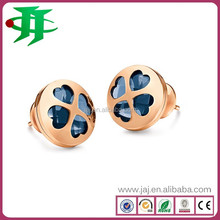 manufacturer stock charm jewelry stainless steel natural stone earrings