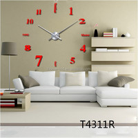 new wall clock English Digital Arts clock creative living room bedroom mute wall clock watch fun DIY Wall Clock big