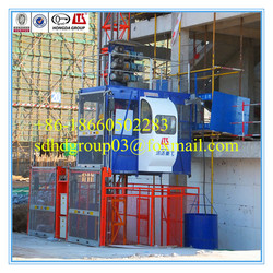 China high quality SC100 construction elevator,building lifts 1t, small building elevator