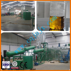 Small-scale waste car/ship motor oil distillation system for clean diesel oil ! JNC china black used oil treatment