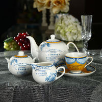17 Pieces Modern Fine China Tea Set of New Classic