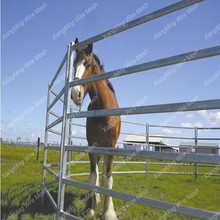 Galvanized 6 Bars Steel Panels fence for horse ( with ISO9001 and SGS)