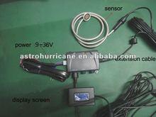 Ultrasonic fuel/water level sensor with alarm