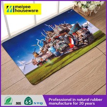 2015 new product Printing Natural Rubber flooring lowers,anti-skid custom new design door mat 100% eco friendly natural rubber