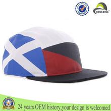 sombreros de panel de algodón 5 de sombreros de panel 5 buena calidad impresos personalizados