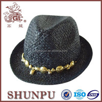 iso 9001 paper raffia hand weave straw hat wholesale china