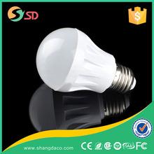 E27 aluminium diffused PC dome plastic led bulb