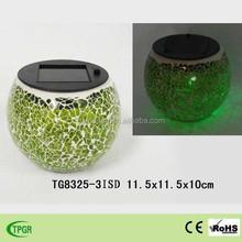 Solar glass ball with flower pot sphere ball light