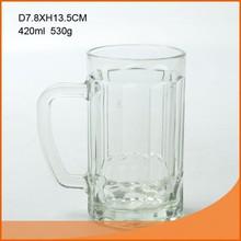 15 oz glass beer mug/cup with handle