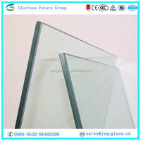 8.38mm Tempered laminated glass partitions for kitchen