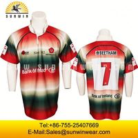 sportwear/banded collar rugby shirt