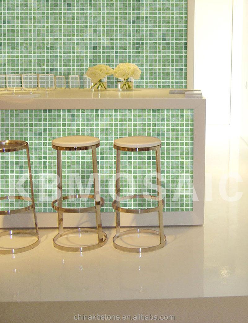 Cuisine Marbre Vert : Mosaique verte salle de bain best petite bains