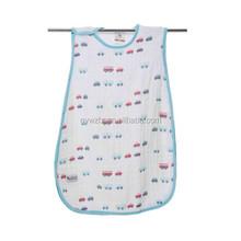 100% cotton gauze wear able sleeping bag