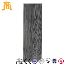 Compressed Wood grain Fiber Cement Board Dark grey color sidding board price