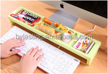 Plastic Food Storage Box ABS Storage Rack Computer desk storage rack