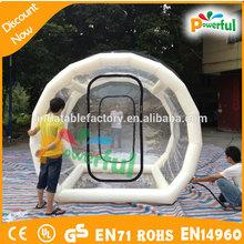 Geodésica clear dome tenda nova tenda bolha inflável clara tenda para evento