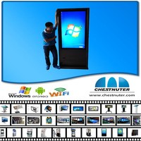New design floor standing all in one pc monitor industrial pc computer advertisment with kisok printing machines