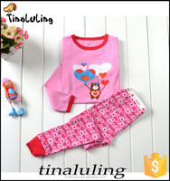 2015 Hot sales! soft gorgeous girls cotton pajamas children's clothing sets baby gown wholesale kids pajamas/gowns