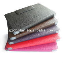 Factory price folio leather case for ipad mini