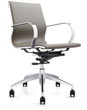 2015 new leather office chair popular middle back chair leather swivel chair