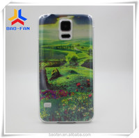 Newest design Blank sublimation transparent PC phone case for Samsung S5 with transparent film