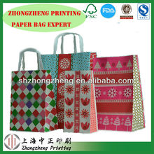 Wholesale Promotional Boutique gift shopping paper bag with handles made of 120gsm paper