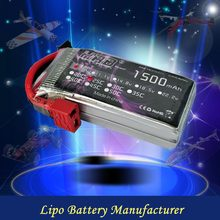 7.4V 1500mah 25C rc car helicopter battery pack