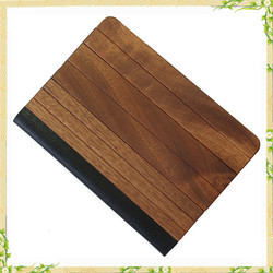 For ipad cover, Flip genuine leather wood cover for ipad, for ipad air tablet cover