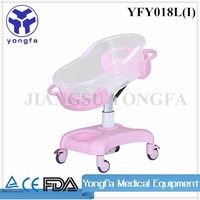 YFY018L Plastic Baby Crib Hospital Cot Baby Hospital Bed For Sale