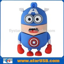 Captain America minion usb memory flash 8GB, batman minion usb flash drive
