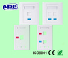 rj45 face plate singel/double faceplate 2 ports face plate best price