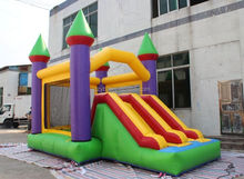 2015 promotion high quality inflatable castle bouncer with slide, commercial inflatable combo, new design inflatable bouncer