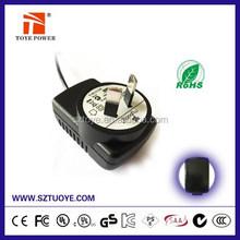 UL/CUL GS CE SAA FCC approved 6v 300ma dc adaptor,6v 600ma dc adapters,6v 200ma dc adapter