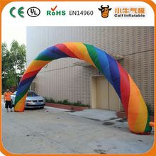 New arrival advertising inflatable rainbow arch for sales from China