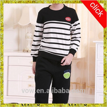 2015 latest fashion long sleeve kids stripe t-shirt, O-neck,different color designs for children