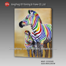 Modern animal oil painting on canvas for bedroom decoration