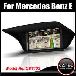 "OEM 7"" in dash double din auto radio player gps navigation bluetooth touch screen head unit for mercedes benz E220 CDI"