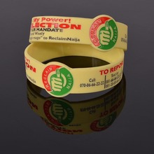 Popular cheap debossed wrist band silicone/custom rubber bracelet