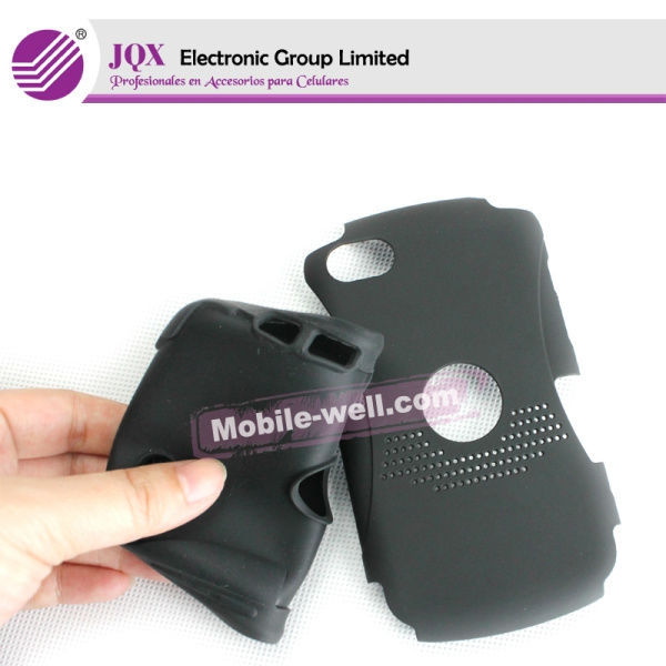 FUNDA GEL TPU NEGRA +PROTECTOR de PANTALLA para para blackberry 9360