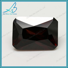 China alibaba rectangle rhodolite cubic zirconia gems,synthetic cz