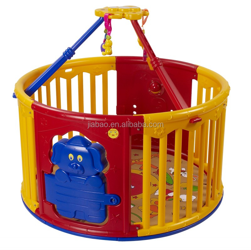 Plastic round playard safe and secure baby playpen with for Safe and secure products
