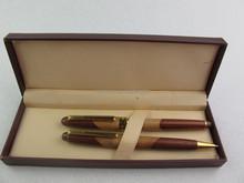 wood fountain pen,wood ballpoint pen set, wood ball pen business gift set TS-p00260