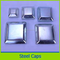 galvanized Fence tube post steel stair handrail end cap