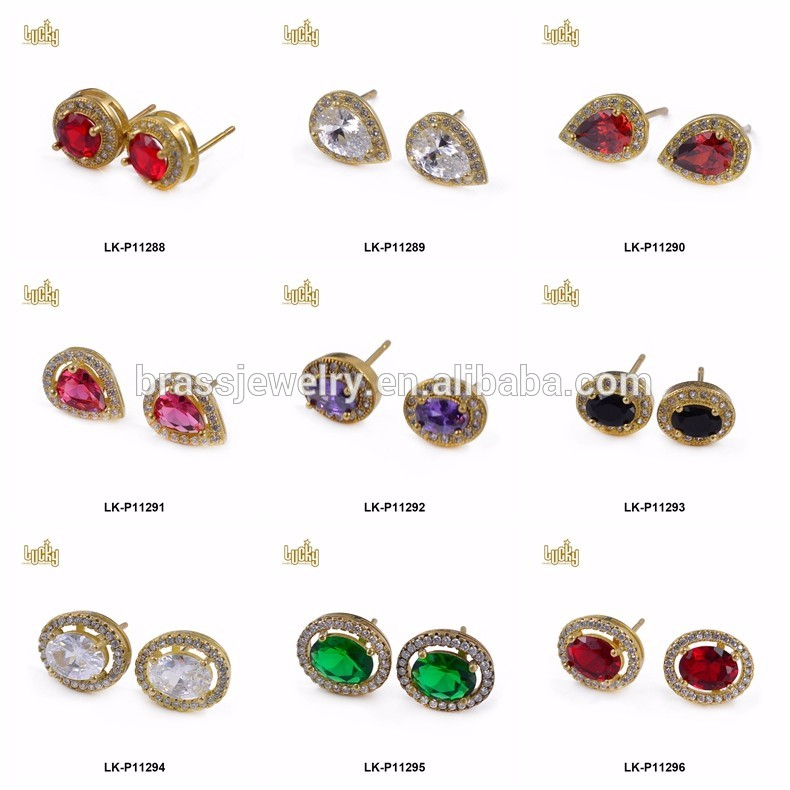 Gold 2 pair stud state of alabama earring Fashion Jewelry FancyCharm
