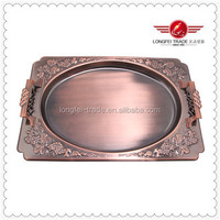 Hot Sale Copper Stainless Steel Serving Tray,Decarative Party,Dinner Dish