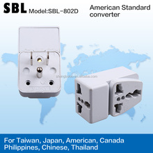 Supply a turn two conversion socket Thailand Canada travel adapter US gauge plug
