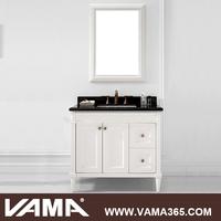 VAMA 36 Inch Vanity with Black Marble Top Modern Bathroom Furniture
