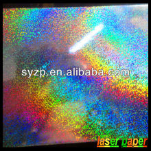 China hot sale holographic laser paper for wrapping